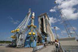 First Soyuz almost ready for launch from French Guiana