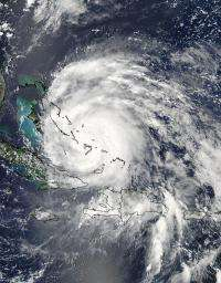 NASA satellites Hurricane Irene almost one-third the size of US east coast