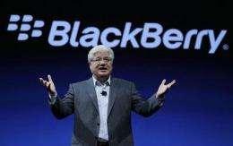 BlackBerry maker shows new phone, tablet software (AP)