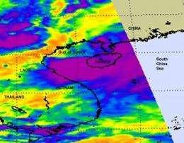 NASA sees Tropical Storm Haima poised for Vietnam landfall