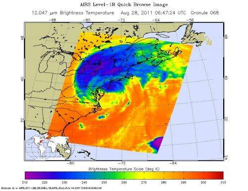 NASA Satellite Shows a Mean Irene's Fury