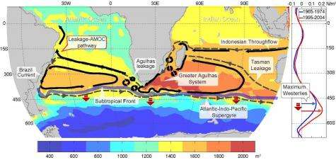 Agulhas leakage fueled by global warming could stabilize Atlantic overturning circulation