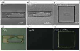 Carbon nanotube forest camouflages 3-D objects