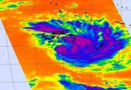 NASA satellite attends the birth of Tropical Storm Bune in Southern Pacific