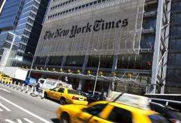 The New York Times said Thursday it would offer buyouts to more than a dozen journalist
