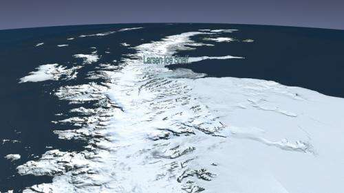 Researchers provide detailed picture of ice loss following the collapse of Antarctic ice shelves