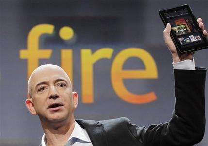 Amazon unveils $199 Kindle Fire tablet (AP)