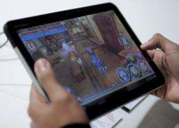 A Motorola Mobility Holdings Inc. Xoom tablet