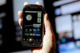 A Motorola phone powered by Android