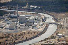 An aerial view of the Oyster Creek Generating Station