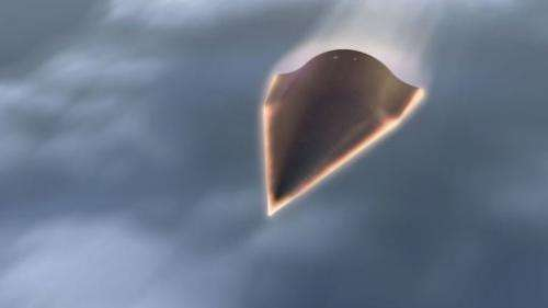 An artist rendering of the hypersonic aircraft Falcon HTV-2