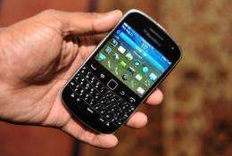 A new model BlackBerry mobile phone