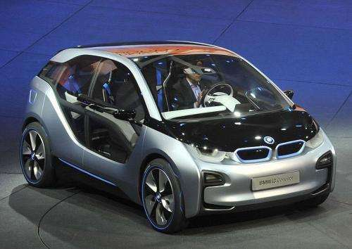 An i3 electric car by German car maker BMW Group is presented in Frankfurt