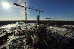 An oil factory under construction in Narva, Estonia