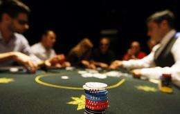 A poker table