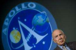 Apollo 13 commander James Lovell, shown in 2009