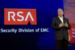 Art Coviello, Executive Chairman of RSA, speaks at a conference