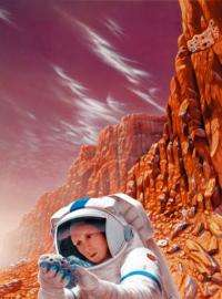 Artwork produced for NASA shows a future female astronaut on Mars, a likely reality, according to experts