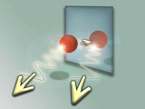 Atom and its quantum mirror image