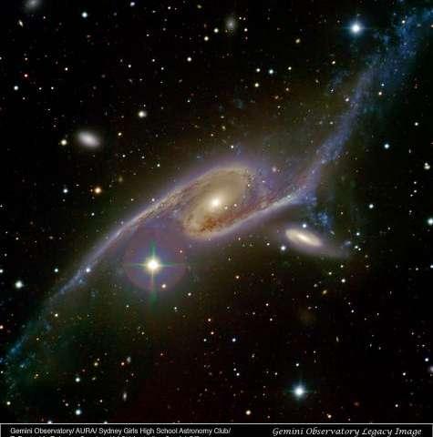 Australian students capture dancing galaxies
