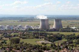A view of a nuclear power station in eastern France