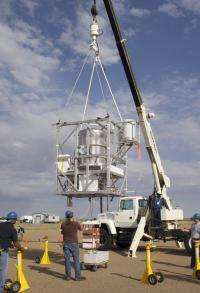 Balloon-based experiment to measure gamma rays 6,500 light years distant