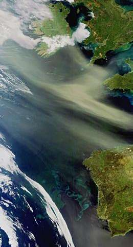 Earth from space: Dust and plankton