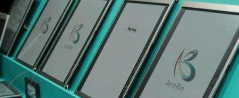 Bridgestone is demonstrating its AeroBee e-reader