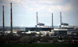 Bulgaria's only nuclear power plant near the town of Kozloduy