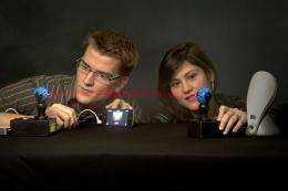 BYU electrical engineers use light to beam songs across a room
