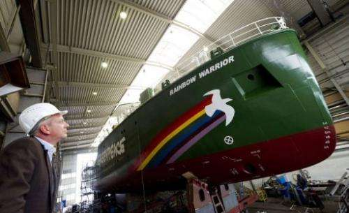 "Chief designer Uwe Lampe says the Rainbow Warrior is ""like a small town"""