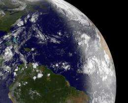 Dramatic satellite image shows daylight breaking over newborn Atlantic Tropical Storm Katia