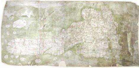 Earliest medieval map of Britain put online