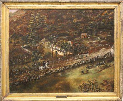 Early 1800s painting of huntsville's monte sano mountain rediscovered