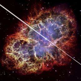 Challenge theoretical models, Crab pulsar beams most energetic gamma rays ever detected from a pulsar