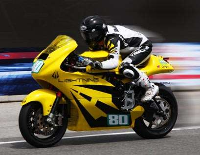 Fastest electric bike tops 200 mph for world record