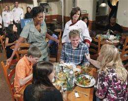 First lady makes headway calling for healthy foods (AP)