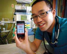 Free phone app helped doctors perform better in simulated cardiac emergency