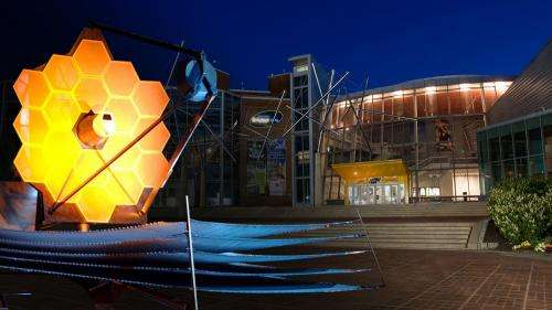 Giant Webb space telescope model to 'Land' in Baltimore