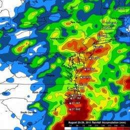 Goodnight Irene: NASA's TRMM Satellite adds up Irene's massive rainfall totals