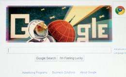 Google replaced the first 'O' in the company's name with a picture of Gagarin in his helmet