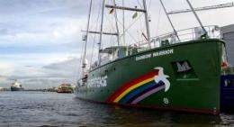 Greenpeace's latest campaign ship, Rainbow Warrior III, made its maiden voyage Wednesday
