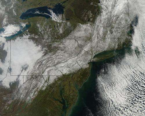 Halloween weekend snow paints a ghostly picture in the U.S. northeast
