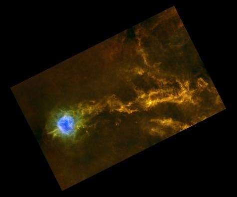 Herschel links star formation to sonic booms