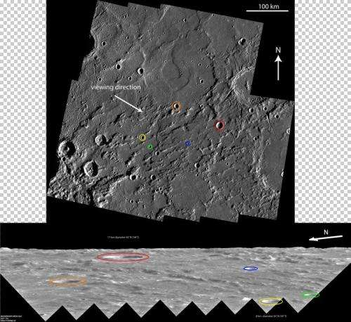 Incredible 'Sideways' look at Mercury's limb