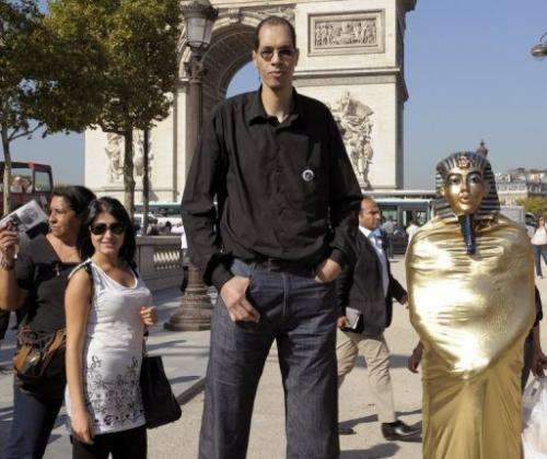 In one year in his teens Takioullah put on more than three feet (one metre) in a spurt
