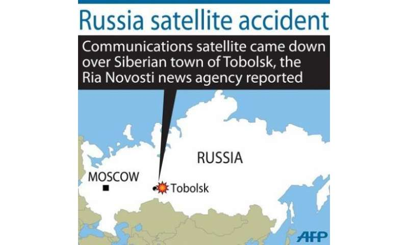 It was not clear if the satellite had made contact with the ground or burned up in the atmosphere.