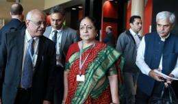 Jayanthi Natarajan and her delegation at this month's climate change talks in Durban