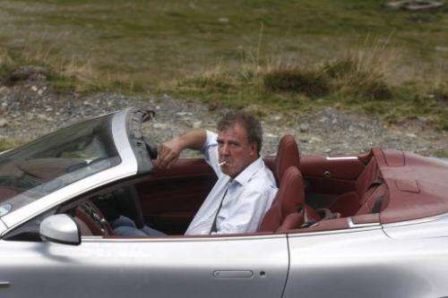 Jeremy Clarkson, presenter of the BBC's Top Gear programme, drives an Aston Martin in Bucharest in 2009.