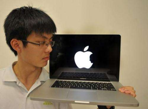 Jonathan Mak's self-designed logo in tribute of Apple founder Steve Jobs has become an Internet hit